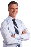 Image of Businessman smiling with arms crossed